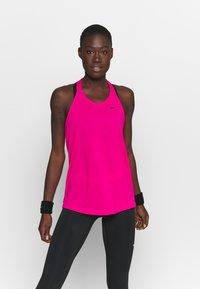Nike Performance - DRY ELASTIKA TANK - T-shirt de sport - fireberry/black - 0