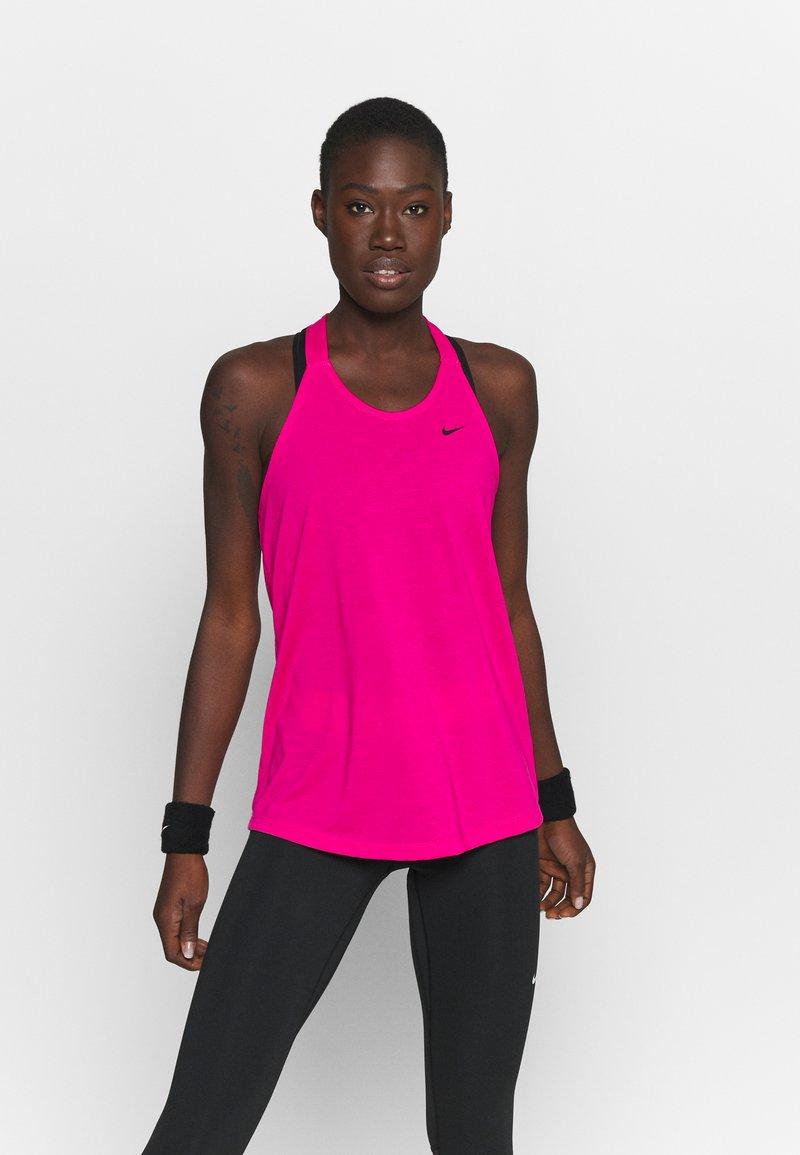 Nike Performance - DRY ELASTIKA TANK - Funkční triko - fireberry/black