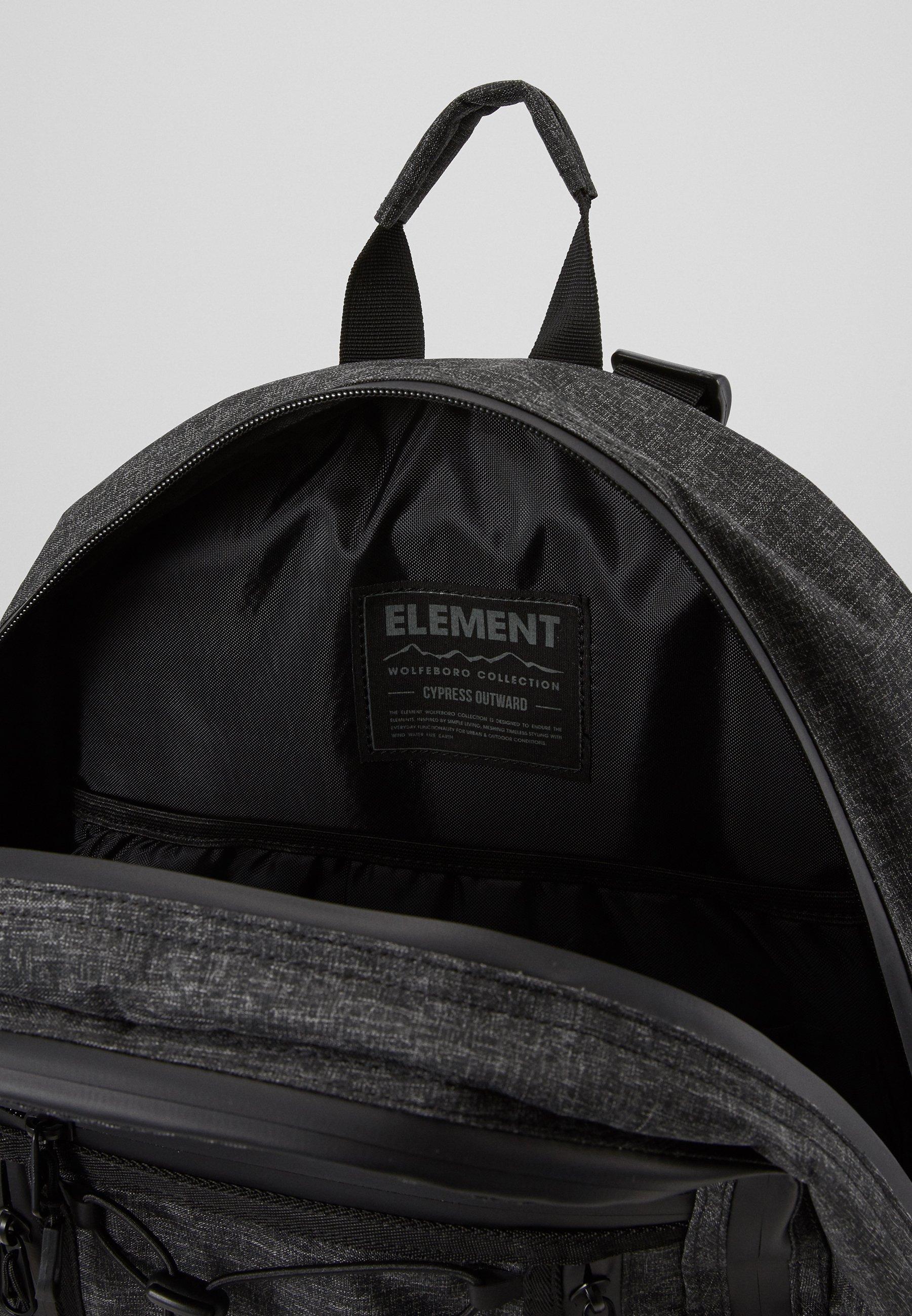 Element Cypress Outward - Tagesrucksack Black Grid/schwarz