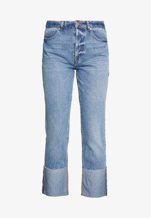 ONLERICA LIFE FOLD - Straight leg jeans - medium blue denim