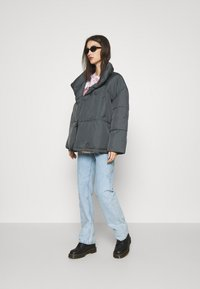 BDG Urban Outfitters - WRAP PUFFER - Winter jacket - charcoal - 1