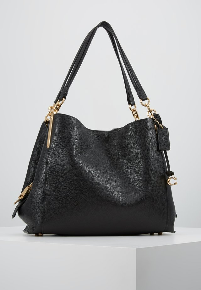 DALTON SHOULDER BAG - Sac à main - gold/black