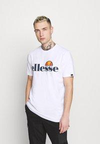 Ellesse - SMALL LOGO PRADO - Print T-shirt - white - 0