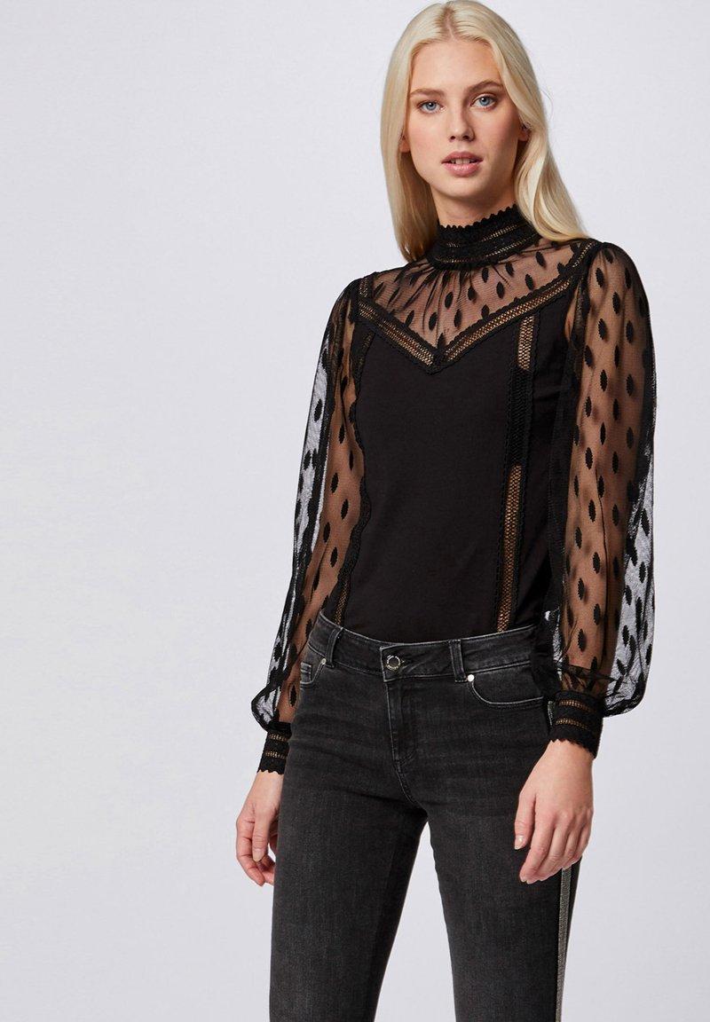 Morgan - Long sleeved top - black