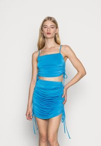 Nly by Nelly - DRAWSTRING SIDE TOP - Top - blue - 0