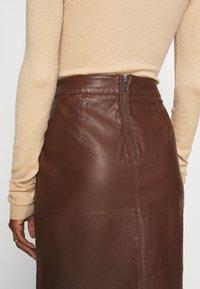 Soyaconcept - GUNILLA  - A-line skirt - brown - 4