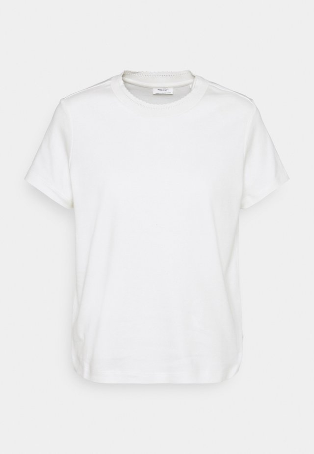 ROUNDNECK WITH SPECIAL DETAIL - Basic T-shirt - scandinavian white