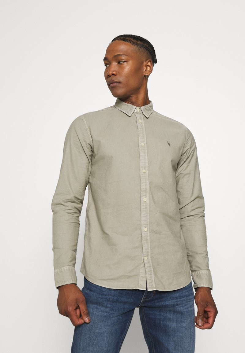 AllSaints - HUNGTINGDON SHIRT - Shirt - jasper green