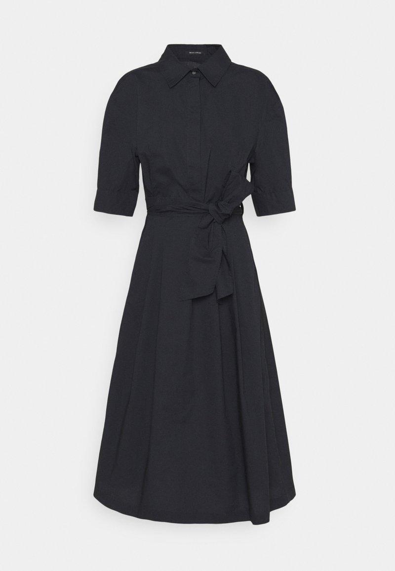 Marc O'Polo - DRESS STYLE BELTED WAIST - Košilové šaty - dark blue