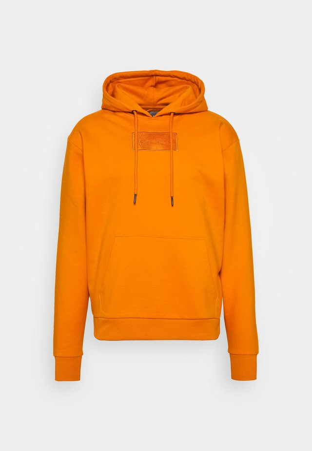 SMALL SIGNATURE BOX HOODIE UNISEX  - Sweatshirt - orange