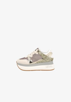 WITH GLITTER - Sneakers laag - pink/gold