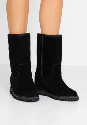 FARA - Wedge boots - black