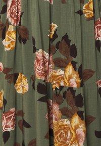 Object Petite - OBJROSE WRAP DRESS - Kjole - deep lichen green/flower - 2