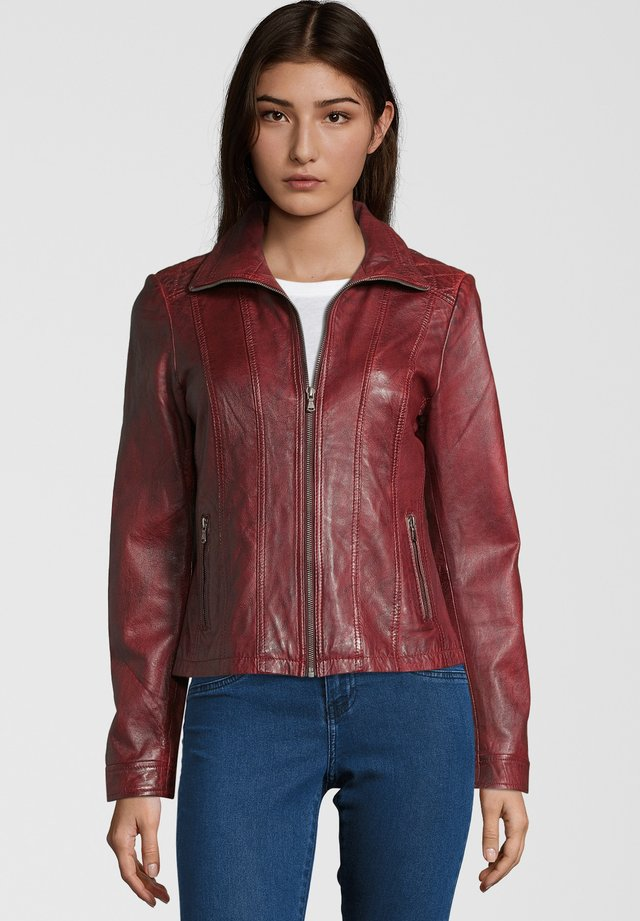 DORIS - Leather jacket - red