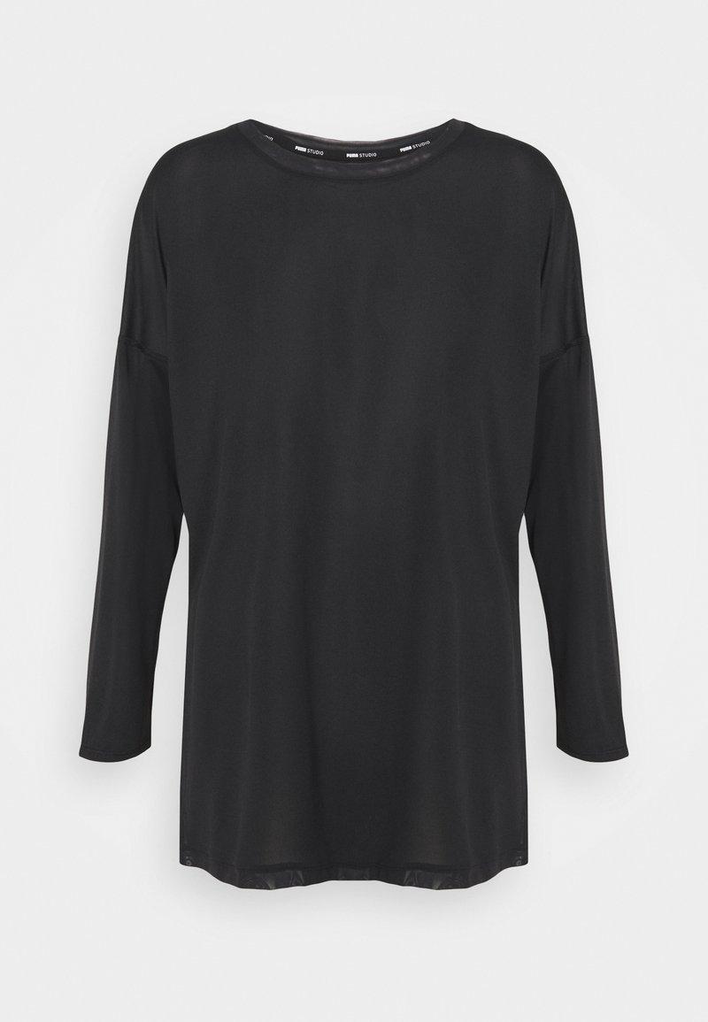 Puma - STUDIO GRAPHENE LONG SLEEVE - Long sleeved top - black