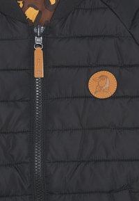 Mini Rodini - LEOPARD REVERSABLE INSULATOR JACKET UNISEX - Lehká bunda - black - 3