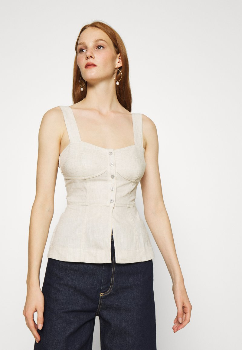 Who What Wear - BUSTIER - Top - natural
