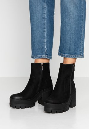 NEW MILA - High heeled ankle boots - black