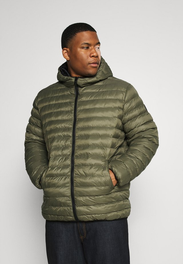 PUFFER JACKET - Talvitakki - dusty army