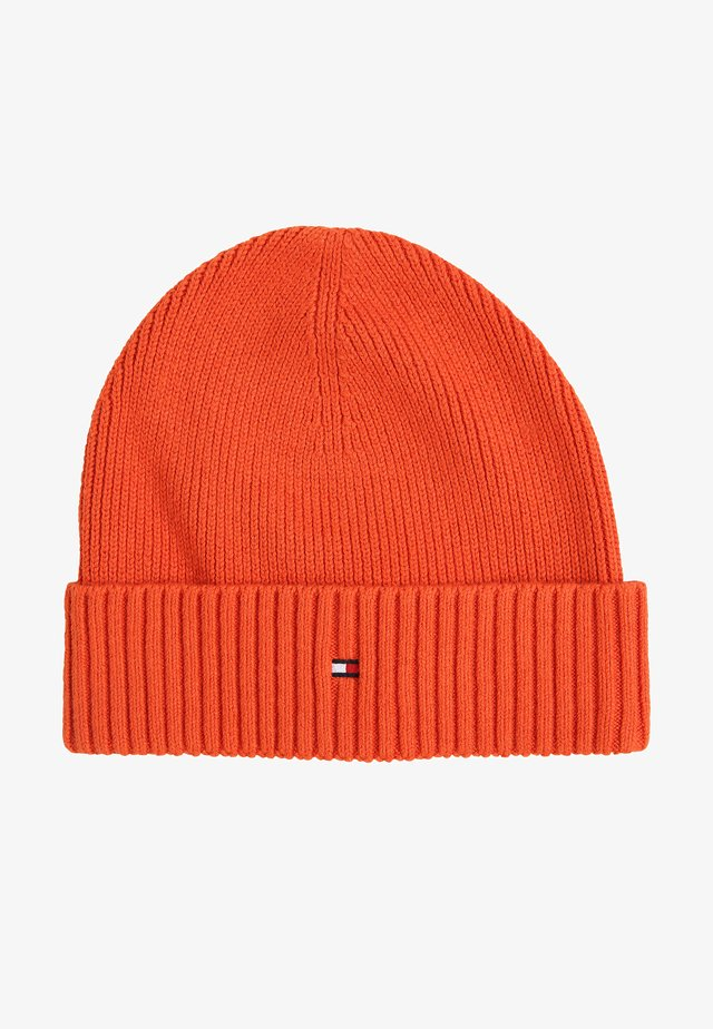 PIMA COTTON BEANIE - Mössa - orange