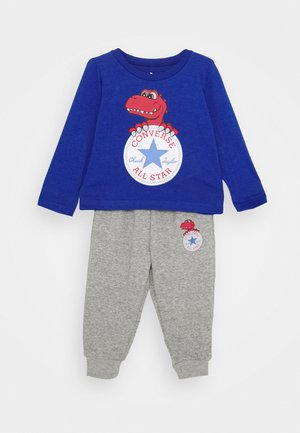 STAR TEE SET - Tracksuit bottoms - blue