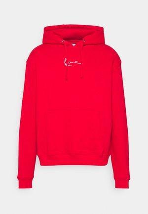 SMALL SIGNATURE HOODIE UNISEX  - Collegepaita - red