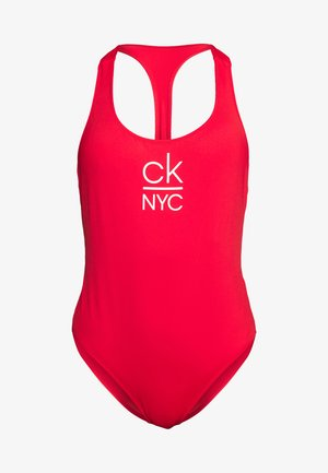 RACER BACK ONE PIECE - Swimsuit - high risk