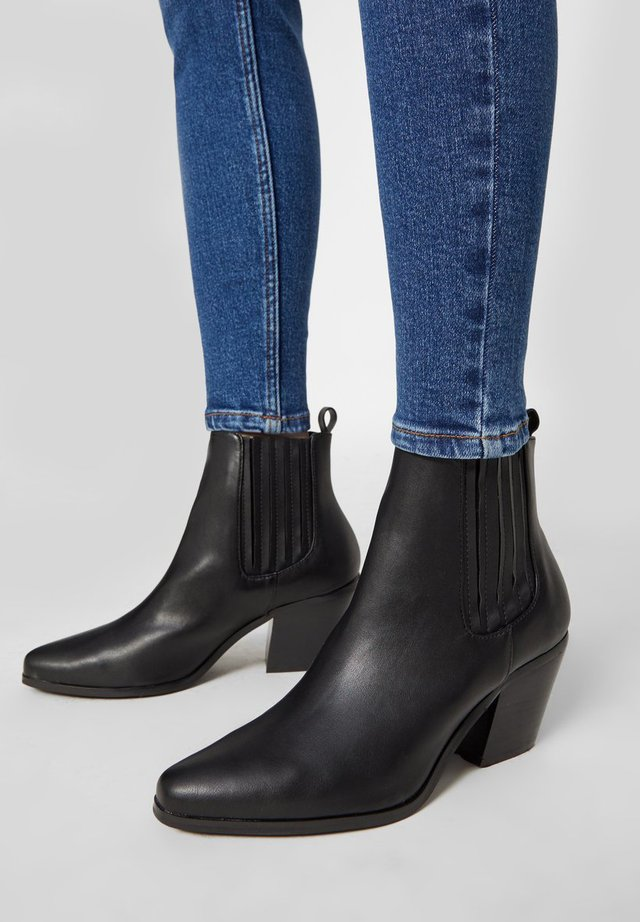 WESTERN STYLE - Classic ankle boots - black