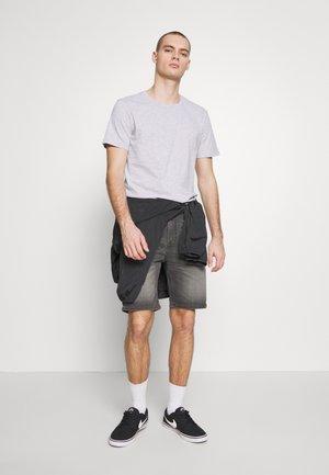 ESSENTIAL TEE 3 PACK - T-shirt - bas - grey marle/ true navy/ charcoal marle