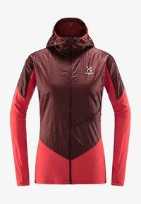 Haglöfs - L.I.M HYBRID HOOD  - Outdoor jacket - hibiscus red/maroon red - 3