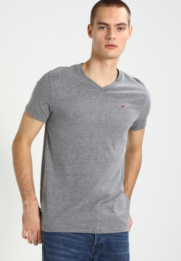 Hollister Co. 3 PACK - T-shirt basic - white grey navy/biały Odzież Męska EWYC
