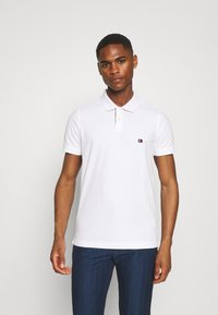 Tommy Hilfiger - CONTRAST PLACKET SLIM  - Polo shirt - white - 0