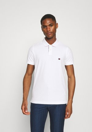 1985 CONTRAST PLACKET SLIM  - Pikeepaita - white