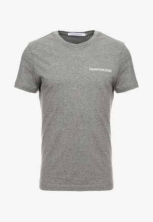 SMALL INSTIT LOGO CHEST TEE - Basic T-shirt - grey