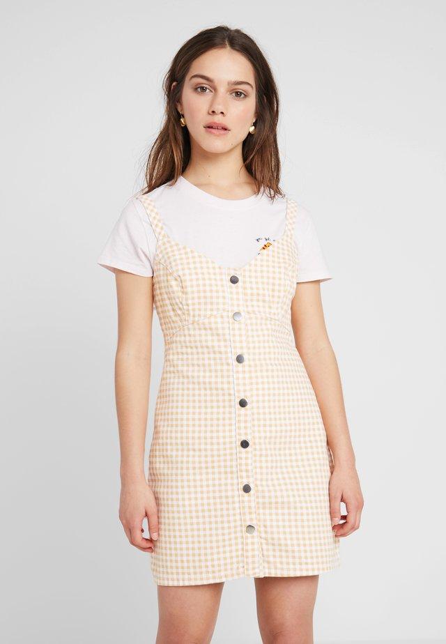 GINGHAM DRESS - Shirt dress - yellow