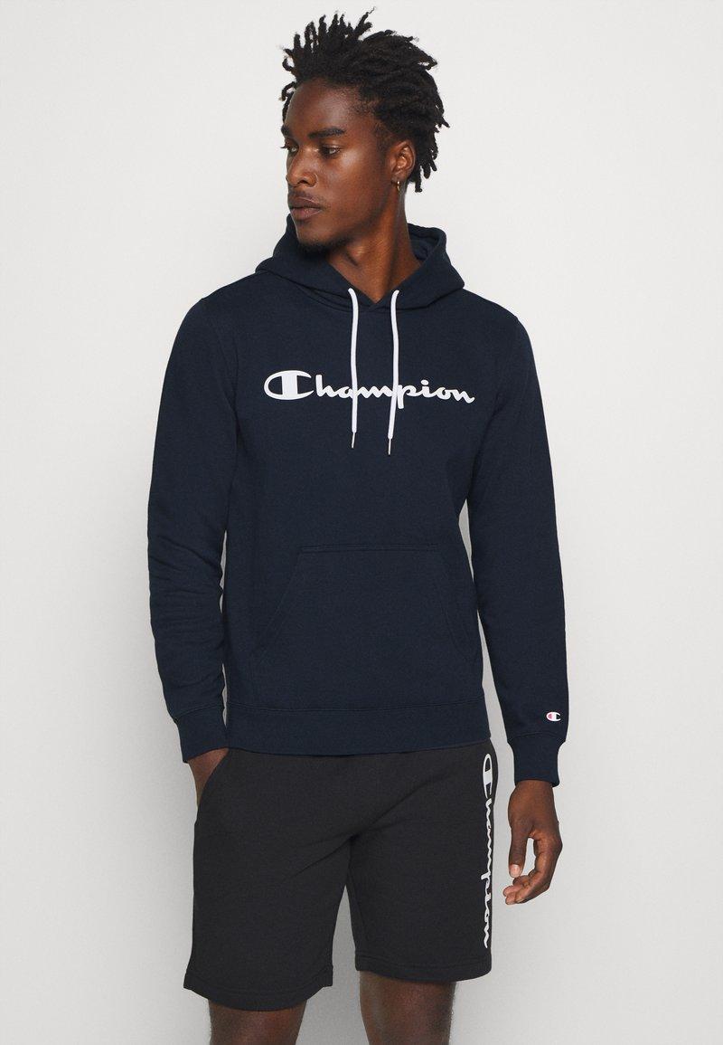 Champion - LEGACY HOODED - Hoodie - dark blue