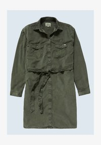 AMELIA - Denim dress - after dark green