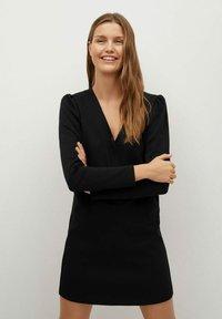 Mango - CAROLINA - Korte jurk - black - 0