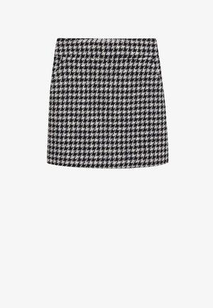 KOHOPINTAINEN GINGHAM-KUVIOINEN - Mini skirts  - black