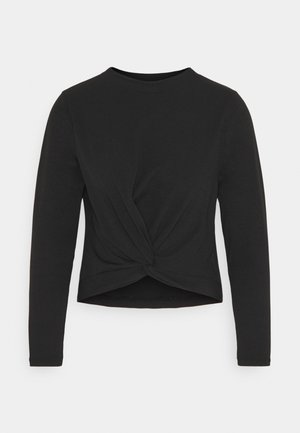 RECYCLED FINE KNOT FRONT - Jumper - black