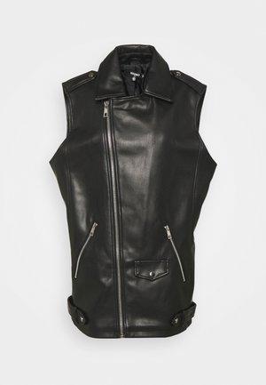 BIKER GILET - Bodywarmer - black