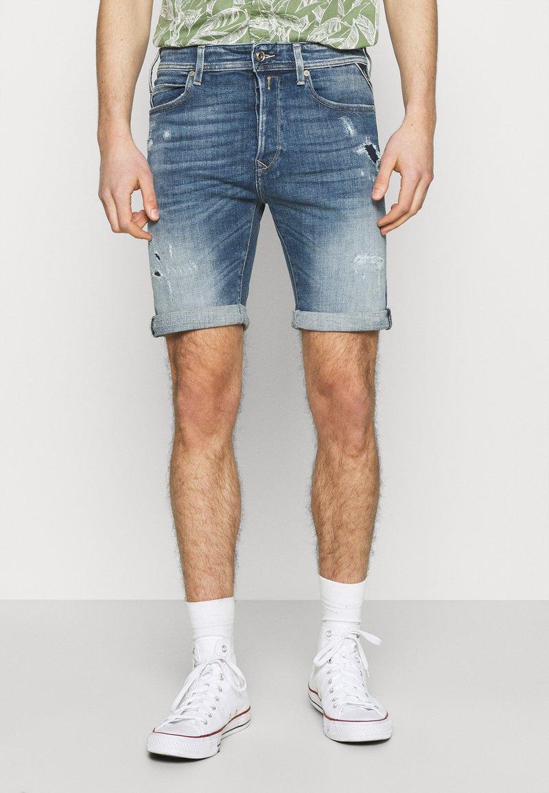 Replay - AGED ECO - Denim shorts - medium blue