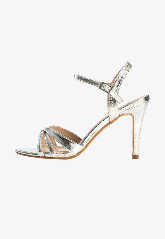 CIARA - Sandalen met hoge hak - silver