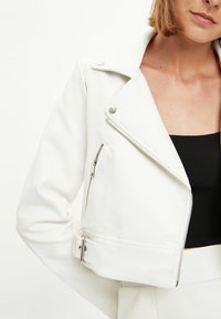 DeFacto - Faux leather jacket - white - 3