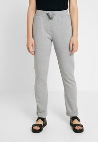 esmé studios - OLIVIA PANTS - Tracksuit bottoms - mottled light grey - 0