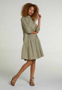 Oui - Shirt dress - khaki - 1