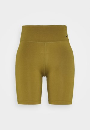 ONE SHORT - Leggings - olive flak/white