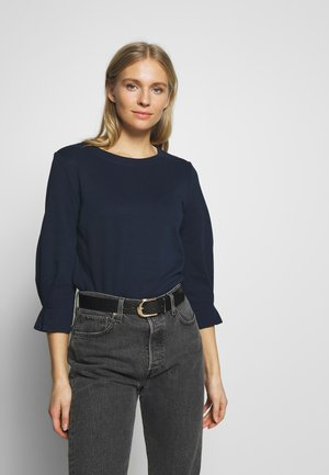 BASIC SWEATER WITH DETAIL - Long sleeved top - real navy blue