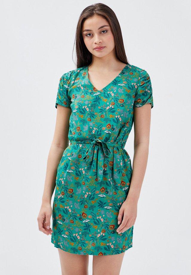 Korte jurk - vert menthe