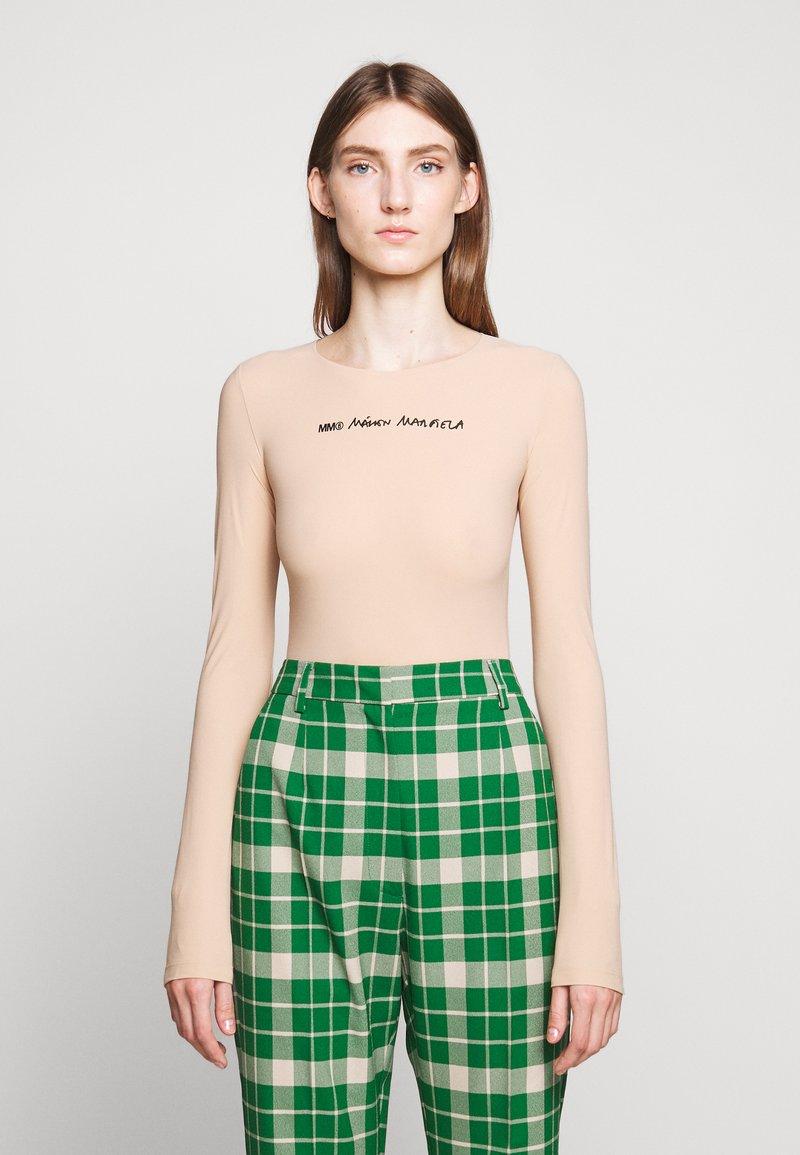 MM6 Maison Margiela - BODYSUITS - Maglietta a manica lunga - nude